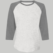 6051-Next Level Unisex Tri-Blend 3/4-Sleeve Raglan